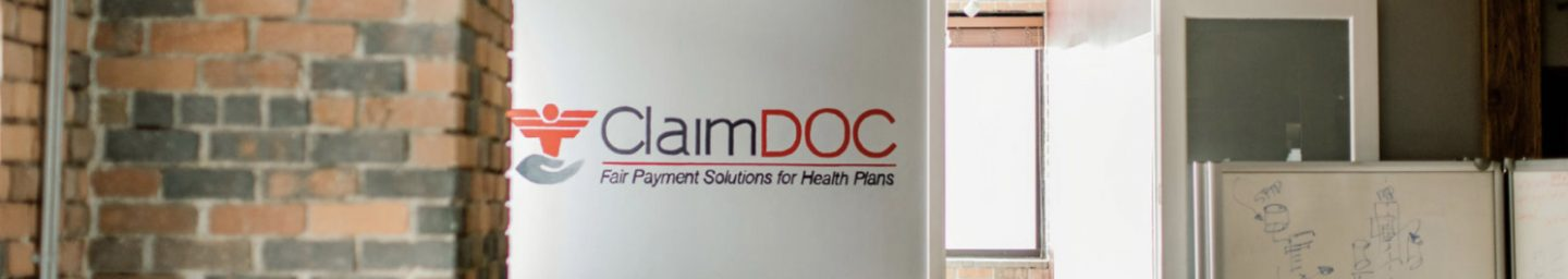 ClaimDOC logo in office